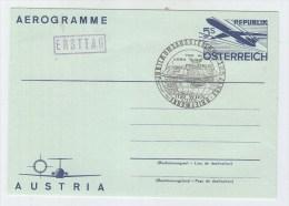 Austria CONCORDE CANCEL FDC AEROGRAMME 1975 - Concorde