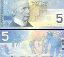 Canada #101-new, 5 Dollars, 2002/2005, UNC / NEUF - Kanada