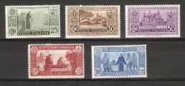 LOTE DE 5 SELLOS DE ITALIA DEL AÑO 1931 VII CENTERANIO ANTONIANO CON CHARNELA - Nuevos