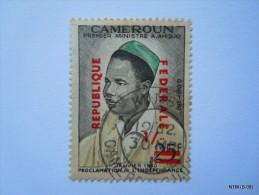 CAMEROUN YEAR 1963 Premier Minister A.Ahidjo, Over Print Republic Federal 1s On 25c. SG 293 - Camerún (1960-...)