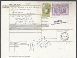 Bahrain Registered Parcel 1976 Sheik Isa 2d, Map Of Bahrain 50f On Parcel Card Sent To Pakistan.50% Off - Bahrain (1965-...)
