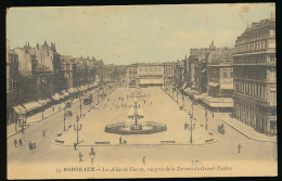 BORDEAUX (33, Gironde) : Les Allées De Tourny, Vue Prise De La Terrasse Du Grand-Théâtre (non écrite)