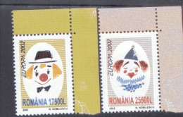CEPT Rumänien 5657 - 5658 Zirkus MNH ** - 2002