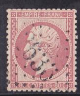 France N°24 - 80c Rose. Oblitéré - TB - 1862 Napoléon III