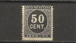 470B -SELLO IMPUESTO DE GUERRA FISCAL AÑO 1898-1898,PARA SUFRAGAR LAS COSTAS DE LAS GUERRAS EN ULTRAMAR.SPAIN REVENUE - Impuestos De Guerra