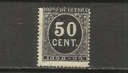970B-SELLO IMPUESTO DE GUERRA FISCAL AÑO 1898-1898,PARA SUFRAGAR LAS COSTAS DE LAS GUERRAS EN ULTRAMAR.SPAIN REVENUE - Impuestos De Guerra