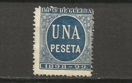 1400C-SELLO IMPUESTO DE GUERRA FISCAL AÑO 1898-1898,PARA SUFRAGAR LAS COSTAS DE LAS GUERRAS EN ULTRAMAR.SPAIN REVENUE - Impuestos De Guerra