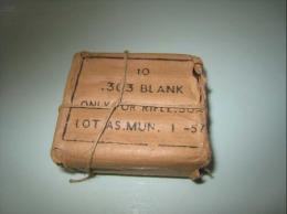Paquet D´origine Contenant 10 Cartouches A Blanc .303 British Lee Enfield - Armes Blanches