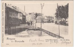 25411g SERBIE - Rue Roi Milan - 1902 - Serbie