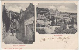 25444g JERUSALEM - Rue - Gethsemane - 1902 - Joseph A. Mitri  Editeur - Israel