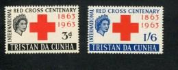 320567643 TRISTAN DA CUNHA  POSTFRIS MINT NEVER HINGED SCOTT  69 70 RED CROSS RODE KRUIS - Tristan Da Cunha
