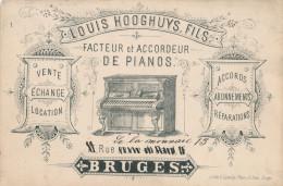 443/23 - MUSIQUE Belgique - Carte Privée Illustrée Pianos Louis Hooghuys Fils à BRUGES - Music