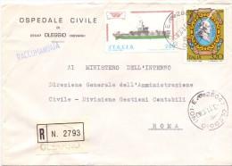 OSPEDALE CIVILE - 28047 - OLEGGIO - R - 1980 - FTO 12X17 - TEMATICA TOPIC STORIA COMUNI D´ITALIA - Affrancature Meccaniche Rosse (EMA)