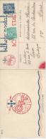 Portugal N°579 + 581 Oblit Lisbonne ( Déc 1936 ) Sur Carte Double En Couleurs Du Nouvel An - Marcophilie