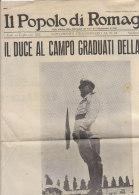 PES^431 - IL POPOLO DI ROMAGNA Suppl.straordinario FED FASCI COMBATTIMENTO FORLI´ 1941/DUCE AL CAMPO G.I.L. - Riviste & Giornali