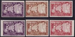Roumanie - Emission Privée - Commémoration De La Mort De Mota Et Marin 1937-1962 - Dentelés+Non Dentelés (Lot 3) - Rumania
