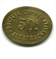 Algérie - Alger - Société Coopérative Altairac - 50 Centimes - Forme Ovale - Monétaires / De Nécessité