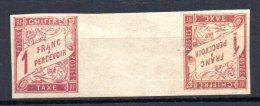 DGC/ Colonies Générales Taxe N° 25 & 26 Paire Galvano Neuf X  Cote  : + De 750 €