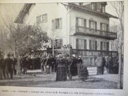 "Cambo , La ""Castagne "" , Donnant Une Aubade A Rostand , A La Villa Etchegorria , Gravure De Sgap De 1901 - Historical Documents"