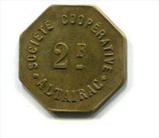 Algérie - Alger - Société Coopérative Altairac - 2 Francs - Monétaires / De Nécessité