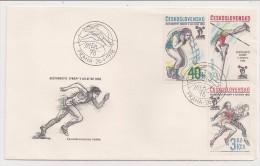 Czechoslovakia, 1978, Praha 78, 5th European Athletic Championships, FDC, Praha, 26-4-78 - Atletica