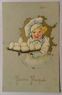 Buona Pasqua Del 1940 Viaggiata Formato Piccolo  Illustrata Firmata - Pasqua