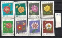 VIET-NAM - 1982 - Fleures - 8v Obl. Non. Peff. - Unclassified
