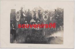 Ducey  - Carte Photo  Cavalcade De 1931 - Char D´afrique équatoriale  (plan Rapproché) - Ducey