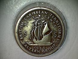 Caraibes De L´Est - Territoire Britanique 5 Cents 1955 - Caraibi Orientali (Stati Dei)
