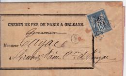 Cachet De Facteur Piece Pour Spécialiste De Type Sage Origine Rurale N 90 Oblitéré  Lettre Rare - 1849-1876: Période Classique