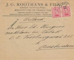 449/23 - TABAC Belgique - Lettre TP Petit Albert BREE 1919 - Entete Manufacture De Cigares Fins Roothans § Fils - Tabac