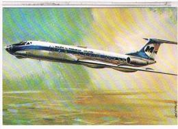 AVION    TUPOLJEV  TU-134  (1969)  DESSIN  CPM  TBE - 1946-....: Moderne