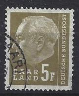 Germany (Saarland) 1957 (o) Mi.411 - 1957-59 Federation