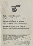 SWITZERLAND AR159 1949 15 Tage Ferien-Generalabonnement - Chemins De Fer