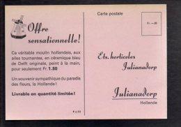 PUBLICITE - Carte De Commande Des Ets Horticoles à Julianadorp En Hollande - Werbepostkarten