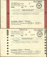 QY689 DENMARK 2 Tickets From Maarslet & Malling - Railway