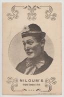 CPA Cirque Spectacle Très Rare Niloum's Original Comique à Voix  Clown Artiste Barnum Amar Pinder Carte Photo - Cirque