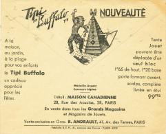 482/23 - INDIENS France - Enveloppe Chéques MARSEILLE 1937 Illustrée INDIEN Amérique - Pub Tipi Buffalo - Timbres