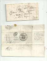 De LYON Cachet N°13 /14  (68 Rhone)  2 PLIS ..1836/39.......à Voir.. - 1801-1848: Précurseurs XIX