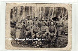 OCTOBRE 1917 - LE 367 EME REGIMENT D INFANTERIE DANS LA FORET - PRETRE MITRAILLEUR POINTEUR - CARTE PHOTO MILITAIRE - Guerre 1914-18