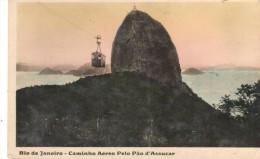 POSTAL   RIO DE JANEIRO  - BRASIL  -  CAMINO AEREO EL PAN DE AZUCAR  (CAMINHO AEREO PELO PÀO D'ASSUCAR ) - Rio De Janeiro