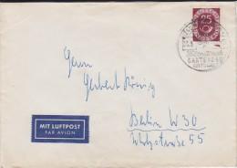 Bund Posthorn Mi 131 EF Lupo Bf Hamburg SSt 1953 - Storia Postale