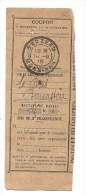 Cachet Timbre à Date Sarzeau 1918 Banastère Sur Fragment De Mandat - Autres