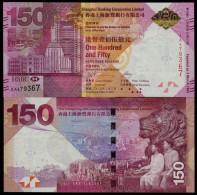 "HONG KONG, ""HSBC"" 150th New Commemorative HK $150, UNC, 2015,  With Folder ! - Hongkong"