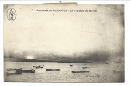 ///  CPA - Afrique - Souvenir De DJIBOUTI - Le Coucher De Soleil  // - Djibouti