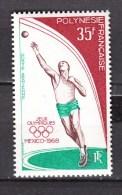 French Polynesia 1968,1V,olympic Mexico,shot Put,kogelstoten,kugelstossen,lancer Du Poids,MNH/Postfris(D2199 - Ongebruikt