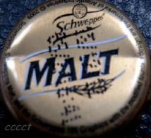Schweppes Malt Kronkorken Ghana Africa beer/soda bottle crown cap, chapa tapon corona tappi