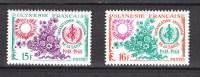 French Polynesia 1968,2V,healthorganisation,wereldgezondheidsorganisatie,organisation De La Sante,MNH/Postfris(D2200 - Ongebruikt