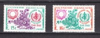 French Polynesia 1968,2V,healthorganisation,wereldgezondheidsorganisatie,organisation De La Sante,MNH/Postfris(D2200 - Frans-Polynesië