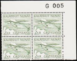 1975. Narwhal. 2 Kr. Green 4-Block. G 005. (Michel: 92) - JF175113 - Zonder Classificatie